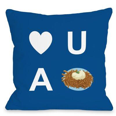 Heart U A Latke Throw Pillow Size: 16 x 16