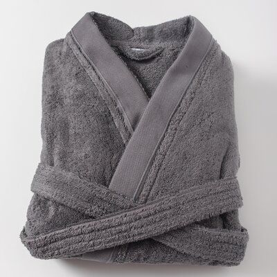 Amedeo Kimono Bathrobe Size: Large, Color: Anthracite