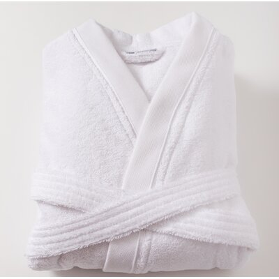 Amedeo Kimono Bathrobe Size: Large, Color: White