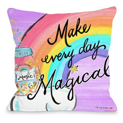 Howerton Magical Day Throw Pillow Size: 18 x 18