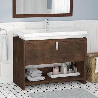 Gaynelle 40 Single Bathroom Vanity Set Base Finish: Rosewood