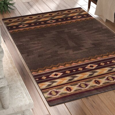 Bushley Brown Area Rug Rug Size: Rectangle 8 x 11