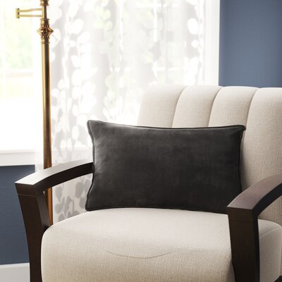 Hargreaves Lumbar Pillow Color: Black