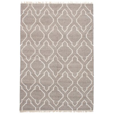 Landy Handmade Kilim Wool Gray Area Rug
