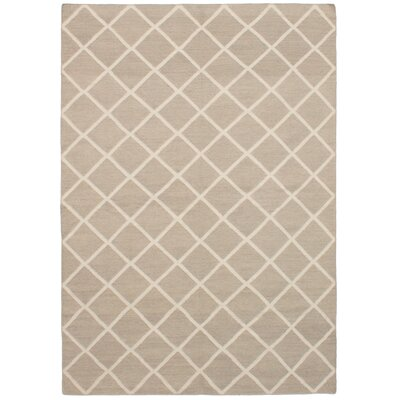 Lanford Handmade Kilim Wool Gray Area Rug