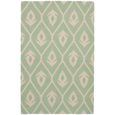 Coster Hand Kilim Wool Light Green Area Rug Rug Size: Rectangle 52 x 81