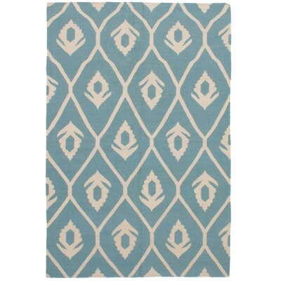 Coster Handmade Kilim Wool Turquoise Area Rug