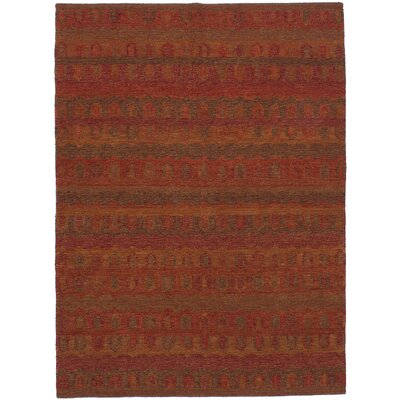 Marmont Handmade Kilim Wool Dark Red Area Rug