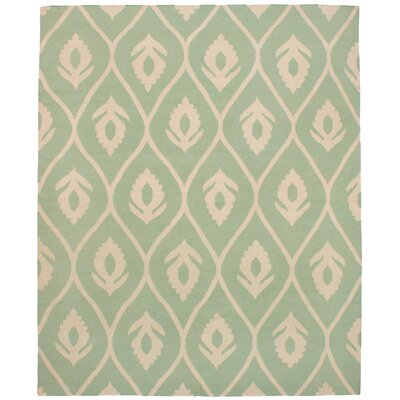 Coster Hand Kilim Wool Light Green Area Rug Rug Size: Rectangle 8'5
