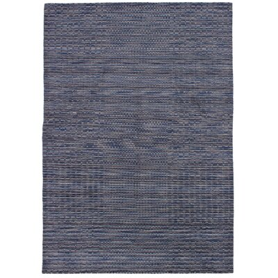 Eustis Hand-Knotted Wool Indigo Area Rug