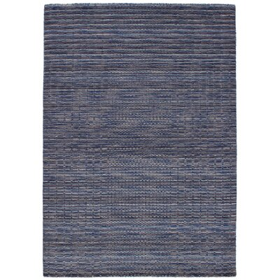 Eustis Hand-Knotted Wool Blue Area Rug