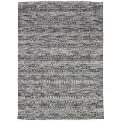 Eustis Hand-Knotted Wool Gray/Khaki Area Rug