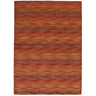 Eustis Hand-Knotted Wool Red Area Rug