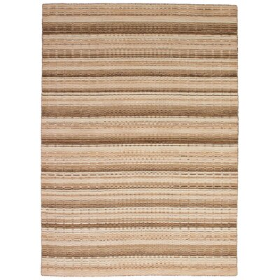 Eustis Hand-Knotted Wool Brown/Tan Area Rug