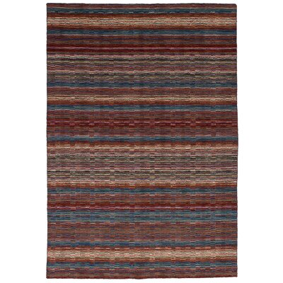Marple Hand-Knotted Wool Olive/Red Area Rug