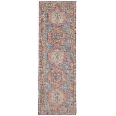 Bevers Hand Flat Woven Wool Blue Area Rug Rug Size: Runner 26 x 8