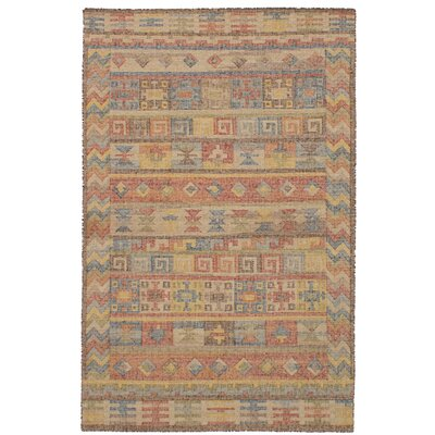 Bevers Hand Flat Woven Wool Dark Copper/Light Khaki Area Rug Rug Size: Rectangle 411 x 80