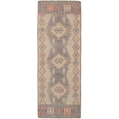 Bevers Hand-Woven Wool Brown/Cream Area Rug Rug Size: Runner 26 x 8