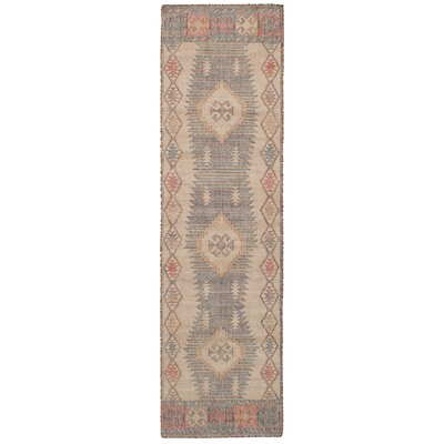 Bevers Hand-Woven Wool Brown/Cream Area Rug Rug Size: Runner 26 x 10