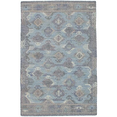 Bevers Hand Flat Woven Wool Light Blue Area Rug Rug Size: Rectangle 411 x 80