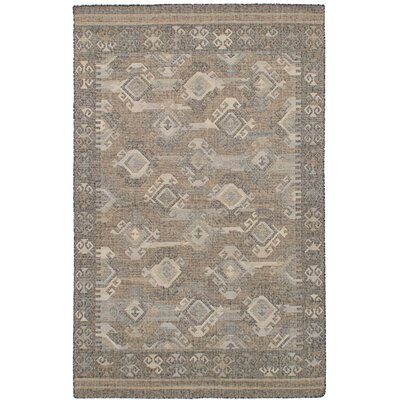 Bevers Hand Flat Woven Wool Gray Area Rug Rug Size: Rectangle 411 x 80