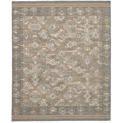 Bevers Hand Flat Woven Wool Gray Area Rug Rug Size: Rectangle 80 x 100