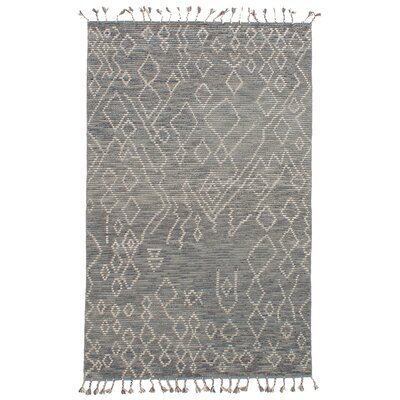 Canales Hand-Knotted Wool Gray Area Rug Rug Size: Rectangle 50 x 80