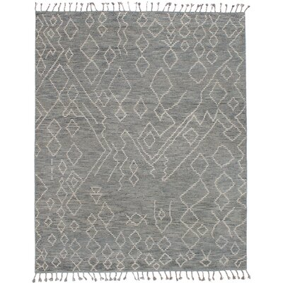 Canales Hand-Knotted Wool Gray Area Rug Rug Size: Rectangle 80 x 100