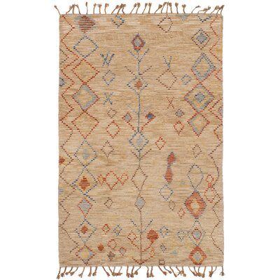 Canales Hand-Knotted Wool Tan Area Rug Rug Size: Rectangle 50 x 80