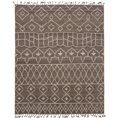 Canales Hand-knotted Wool Brown/Dark Gray Area Rug Rug Size: Rectangle 80 x 100