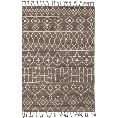Canales Hand-knotted Wool Brown/Dark Gray Area Rug Rug Size: Rectangle 50 x 80