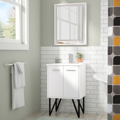 Almaraz 24 Single Bathroom Vanity Set with Mirror