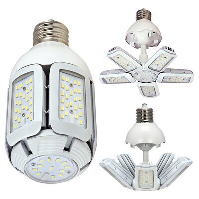 E39/Mogul LED Light Bulb Wattage: 60W, Size: 3.81 H x 3.81 W x 3.81 D, Bulb Temperature: 5000K