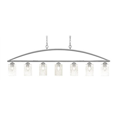 Tobin 7-Light Kitchen Island Pendant Finish: Brushed Nickel