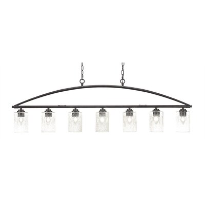 Tobin 7-Light Kitchen Island Pendant Finish: Dark Granite