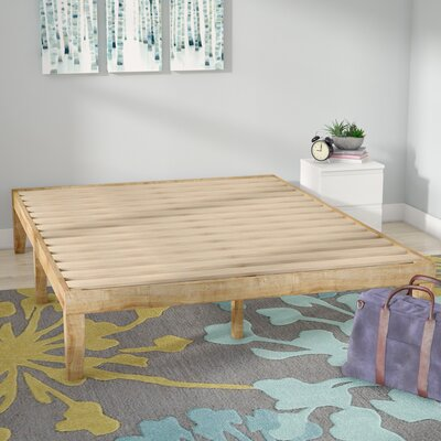 Solid Wood Platform Bed Size: Queen