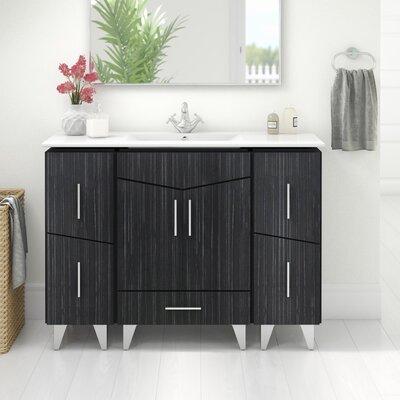Kapp Modern Floor Mount 48 Single Bathroom Vanity Set Faucet Mount: Single Hole