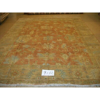 One-of-a-Kind Cranford Hand Woven-Wool Apricot Area Rug