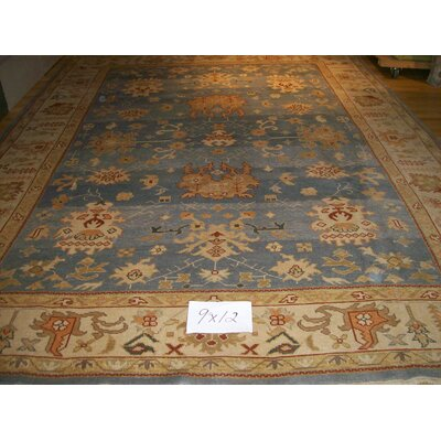 One-of-a-Kind Eliam Hand-Woven Wool Light Blue Area Rug