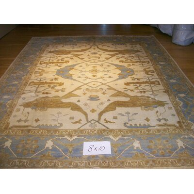 One-of-a-Kind Langton Hand-Woven Wool Ivory Area Rug