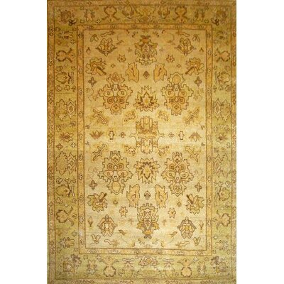 One-of-a-Kind Luise Oushak Hand-Woven Wool Cream Area Rug