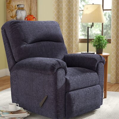 Helene Manual Rocker Recliner by Simmons Upholstery Upholstery: Slate