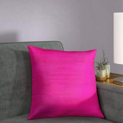 Finlay Solid Silk Throw Pillow Size: 18 H x 18 W x 5 D, Color: Fuchsia Pink