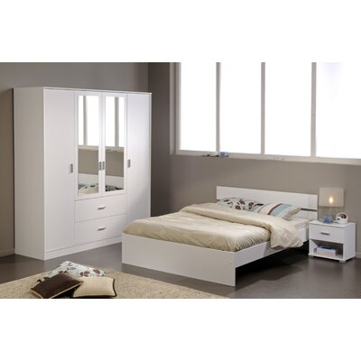 Matos Full Panel Bed Color: White