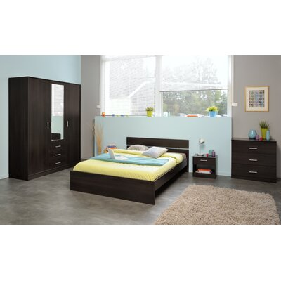 Matos Full Panel Bed Color: Coffee