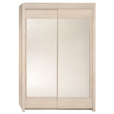 Matos 2 Door Wardrobe Armoire Color: Light Acacia