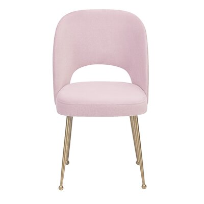 Modern Side Chair Upholstery: Blush