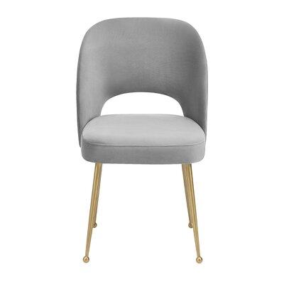 Modern Side Chair Upholstery: Light Gray