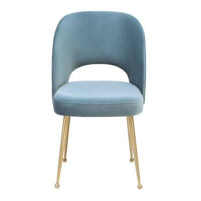 Modern Side Chair Upholstery: Sea Blue