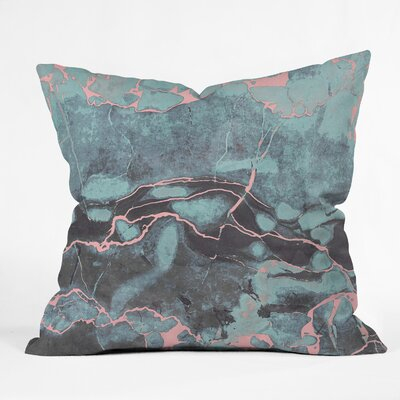 Emanuela Carratoni and Blush Marble Throw Pillow Size: 18 x 18